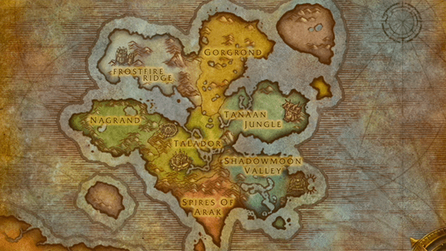 warlords of draenor map