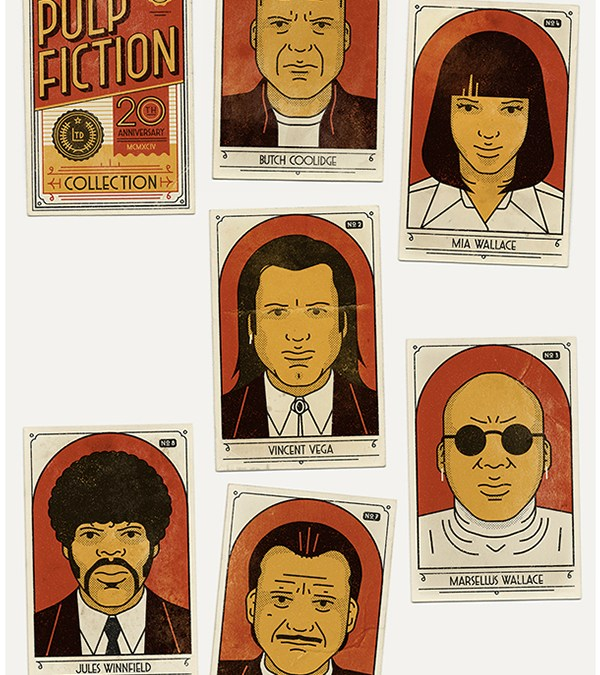 Awesome Pulp Fiction 20th Anniversary Cinema Collector Card Posters