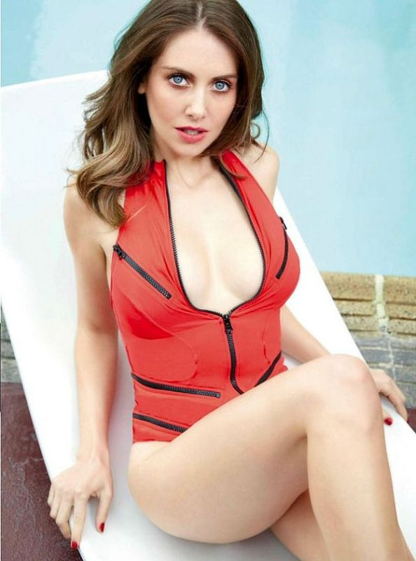 Alison Brie pics via GQ Mexico