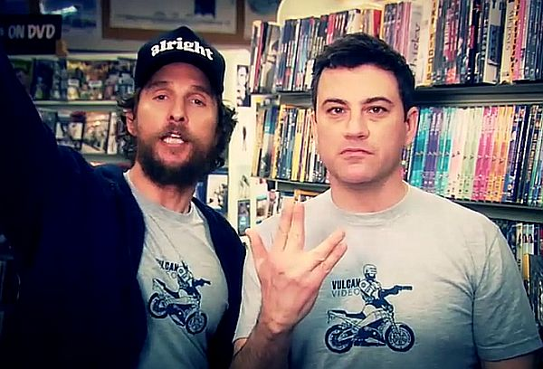 Jimmy Kimmel and Matthew McConaughey's Vulcan Video Store Ad Goes Viral