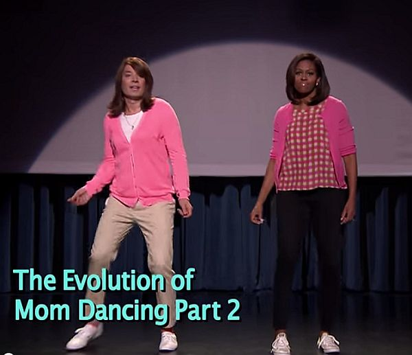 Video: Jimmy Fallon and Michelle Obama Are Back With 'The Evolution of Mom Dancing Part 2'