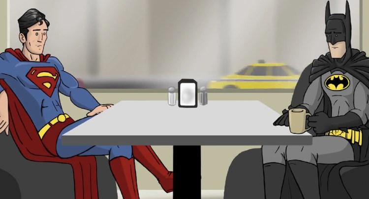 Batman And Superman Discuss Batman v Superman Trailer In Hilarious Video