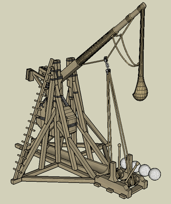 Tebuchet (Catapult) - from behind