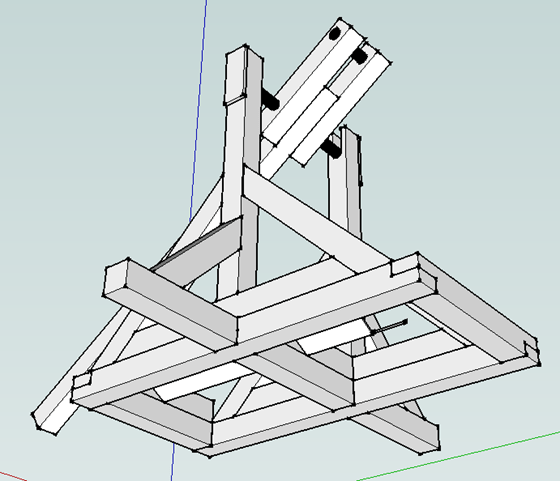 Tebuchet (Catapult) - from underneath (bottom view)