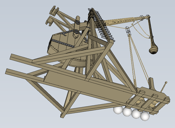 Tebuchet (Catapult) - from underneath (bottom view)
