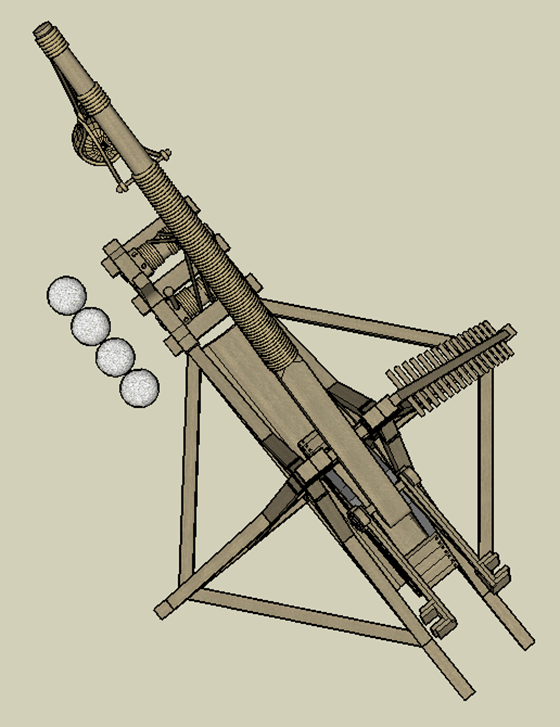 Tebuchet (Catapult) - top view