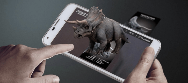 Dinosaur 4D+ Augmented Reality Apps & Flashcards for Kids
