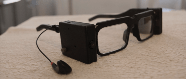 Parsee innovative 3D printed glasses for blind people