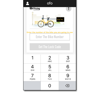 Ofo Bike sharing service