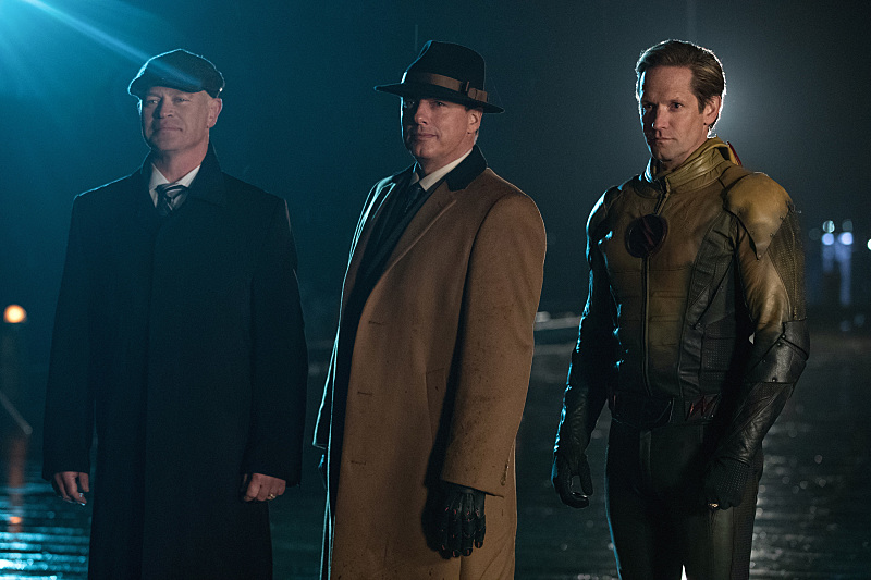 Damien Darhk, Malcolm Merlyn, and Eobard Thawne Courtesy of The CW