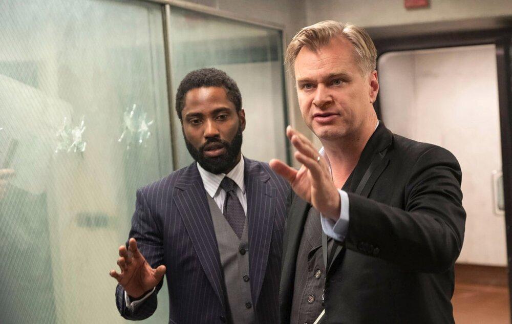 Christopher Nolan and John David Washington