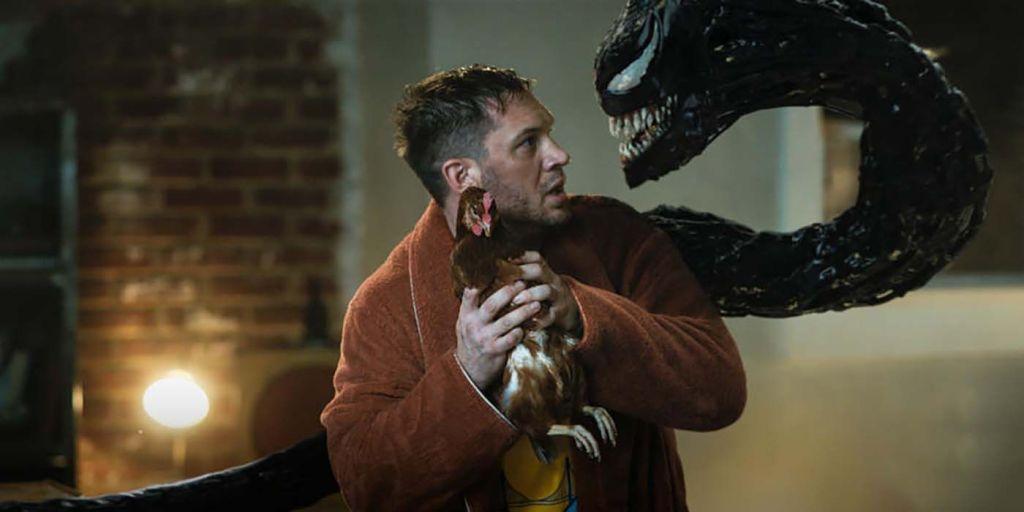Tom Hardy as Eddie Brock in Venom: Let There Be Carnage