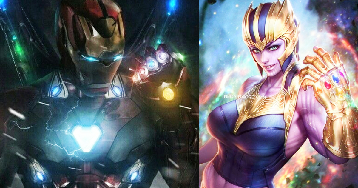 30 Mind-Blowing Images of Popular Superheroes Wearing Infinity Gauntlet