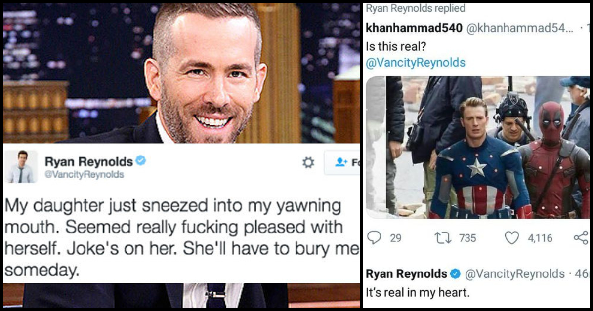 27 Incredibly Funny Ryan Reynolds Moments That Prove He Is The Ideal Deadpool