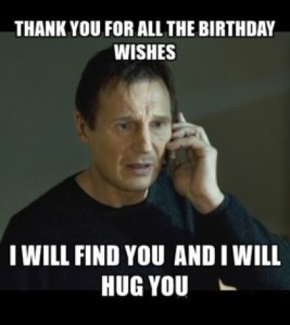 Funny Birthday Thank You Meme