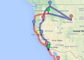 A map from George's Blog: Vagabonders Supreme