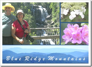 A Picasa collage of our pictures from a day in the mountains of South Carolina.