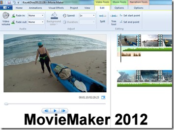 MovieMaker 2012 is a Free Tool for editing your Videos and slideshows