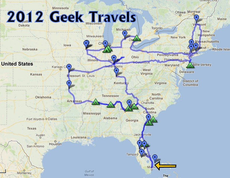 Share A Map Of Your Travels With Google Maps GeeksOnTourCOM - Map of where i traveled