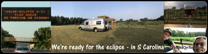RV travel to perfect solar eclipse viewing spot