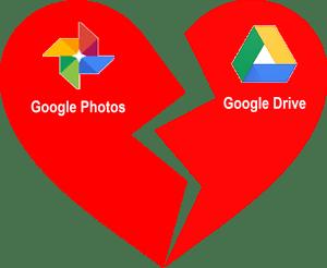 Google Drive and Google Photos will no longer sync