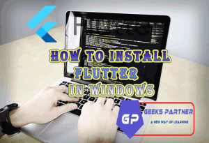 How to install flutter on windows