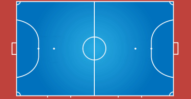 how big is a futsal court