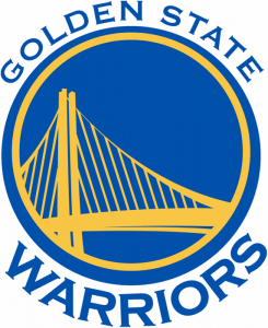 The logo of the Golden State Warriors, NBA team