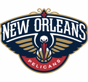 The logo of the New Orleans Pelicans, NBA team