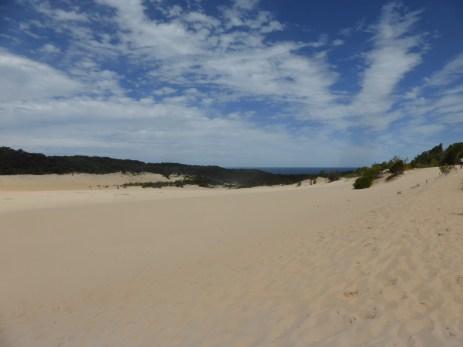 A long walk across sand dunes...