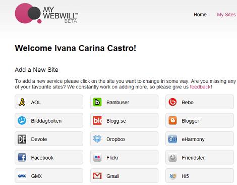 Cuenta de Ivana en my webwill
