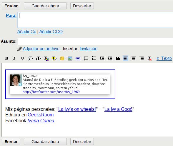 Mi firma en Gmail con TwitFooter incluido.
