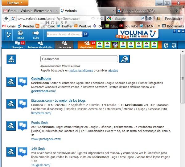 Resultados en Volunia - GeeksRoom