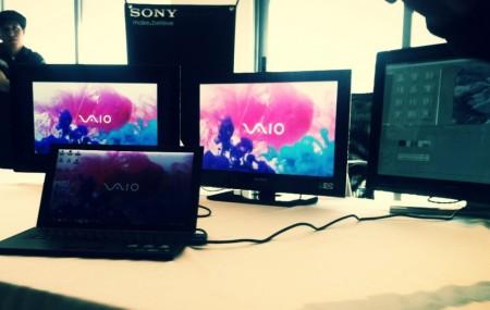 Sony VAIO serie Z conectada a 3 monitores