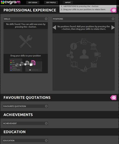 Crea una infografía con tu Curriculum Vitae