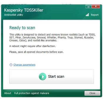 Kaspersky Tdsskiller, para limpiar malware como el ZeroAccess botnet