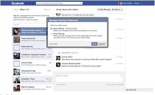 facebook-message-filtering