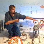 Fan de Star Wars recreó la Batalla de Hoth en su living room. Alucinante!