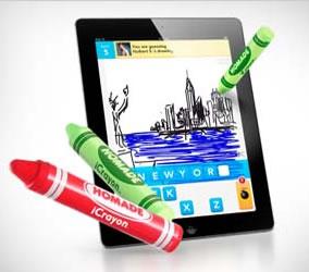iCrayon: Para los mas pequeños,la sensación de dibujar con crayones en un iPad