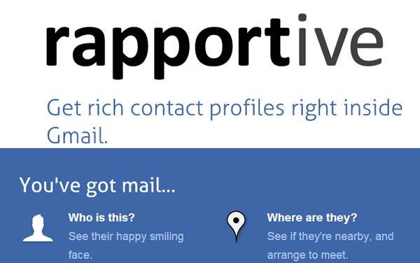 Rapportive: Una extensión que te agregará a Gmail, toda la info de tus contactos