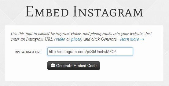 embed-instagram