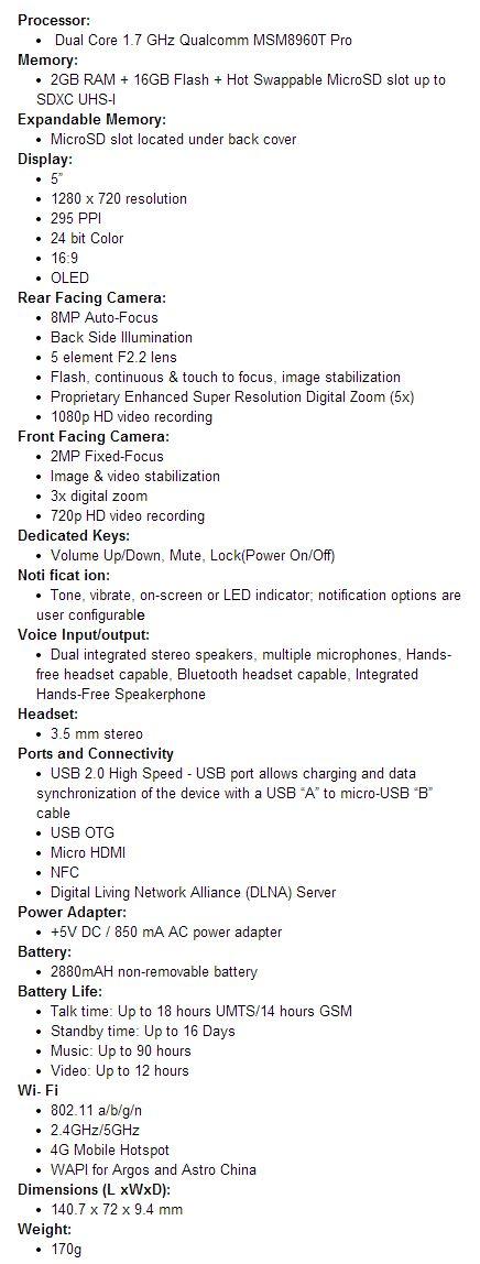 blackberry-z30-specifications
