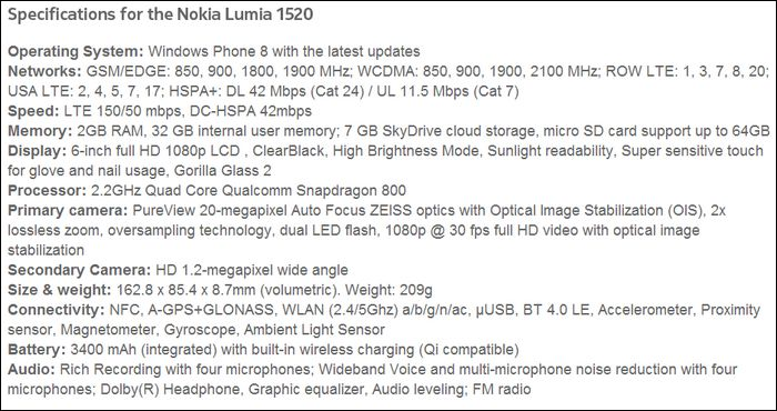 nokia-lumia-1520-specs