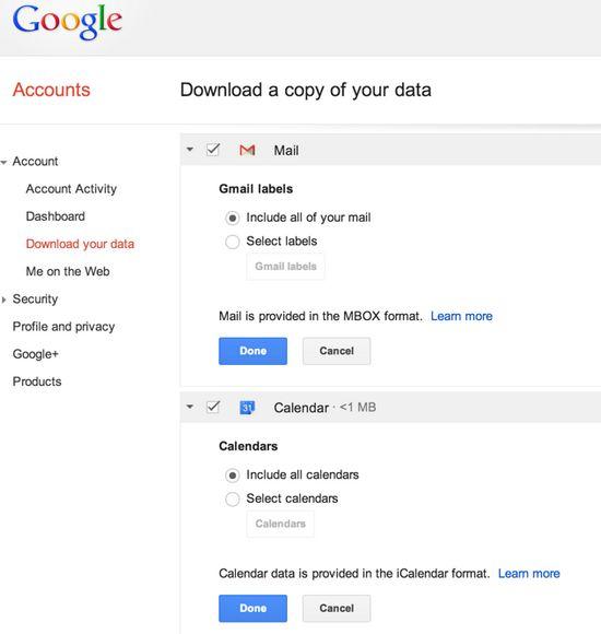 google-takeout-gmail-calendarios