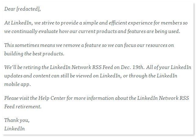 linkedin-rss-feed-email