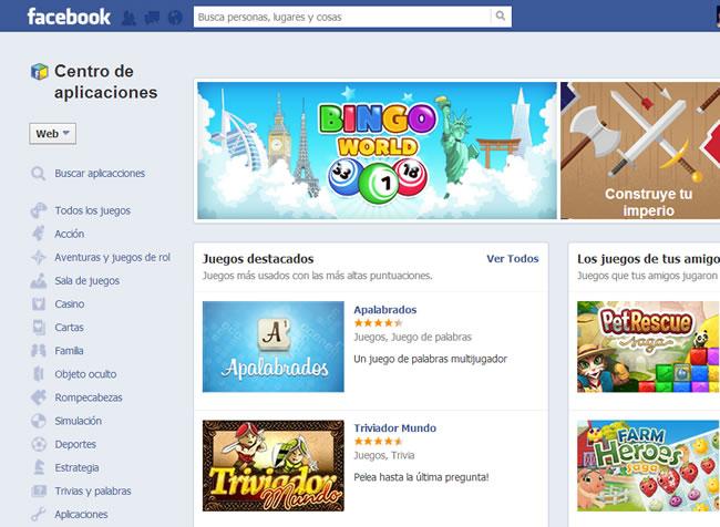 facebook-centro-aplicaciones