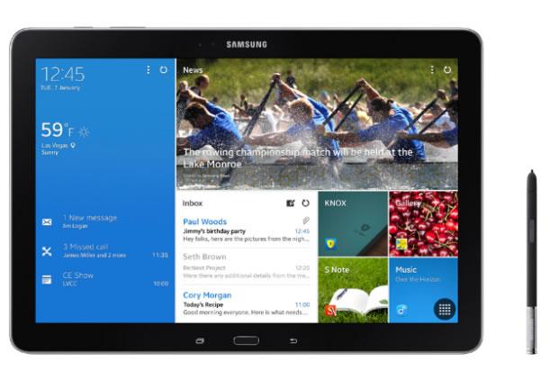Samsung presentó su gran tablet Note PRO 12.2 y la línea Tab PRO #CES2014