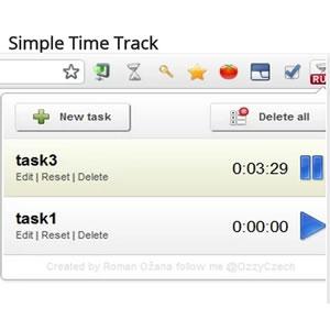 Simple Time Track: Extensión para el navegador Chrome que organiza y controla el tiempo de tus tareas