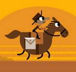 En el 155 aniversario de Pony Express, Google publica un Doodle con un juego muy entretenido