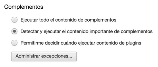 chrome-complementos-ejecutar